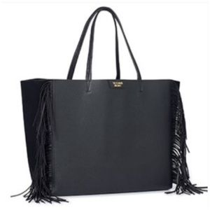 Victoria's Secret Black Fringe Tote